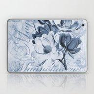 Blue Magnolia Laptop & iPad Skin