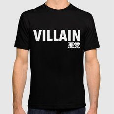 Villain 悪党 Mens Fitted Tee Black SMALL