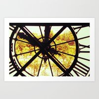 Clock in Musee D'Orsay, Paris Art Print