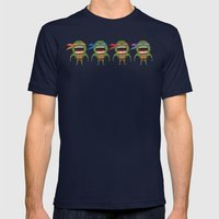 Screaming Turtles Mens Fitted Tee Navy SMALL