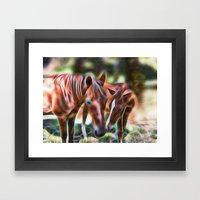 Horse Kisses Framed Art Print