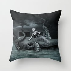 Octopus Attack! Throw Pillow