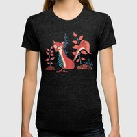 You Are My Fox Womens Fitted Tee Tri-Black SMALL
