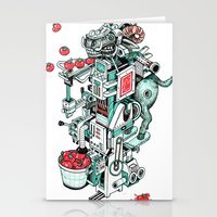 tomato shooting goat machine! Stationery Cards