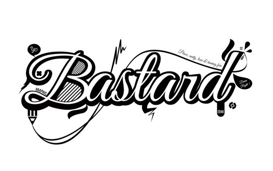 Graphic Bastard Art Print