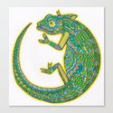 Quirky Chameleon Canvas Print