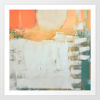 Abstract, Orange And Gre… Art Print
