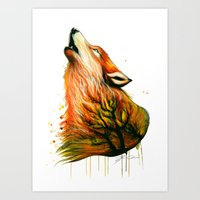 -The Burning Forest- Art Print