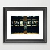 Metro Phone Call Framed Art Print