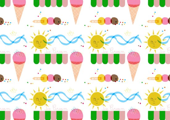 Ice Cream Summer Art Print