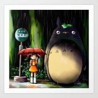 Totoro Art Print
