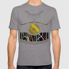 Star Wars C3PO Vector Mens Fitted Tee Tri-Grey SMALL