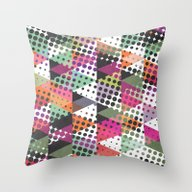 Dots And Triangles III  Throw Pillow
