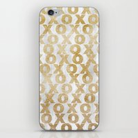 Xoxo Gold iPhone & iPod Skin
