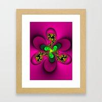 Toxic Flower Framed Art Print