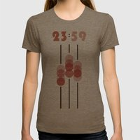 23:59 Womens Fitted Tee Tri-Coffee SMALL