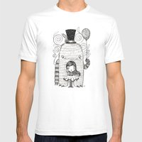 My Monster Friend Mens Fitted Tee White SMALL