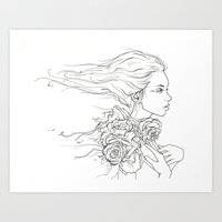 Whispering Rose Art Print