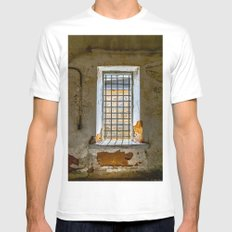 Behind Steel Bars Mens Fitted Tee White SMALL