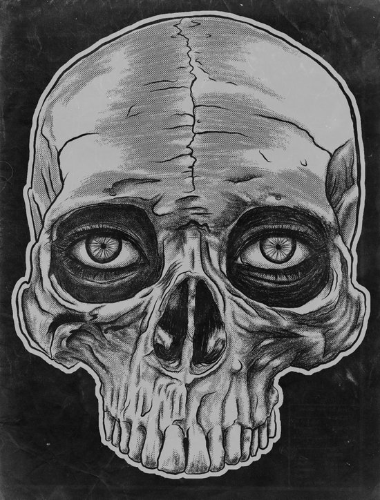 Behind the skull Art Print