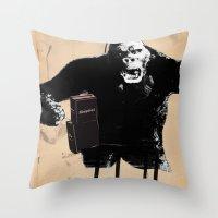 King, Kong, Kapital Throw Pillow