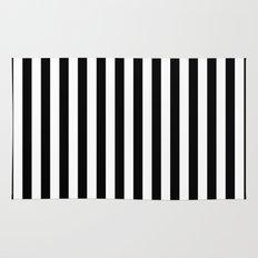 Modern Black White Stripes Monochrome Pattern Rug