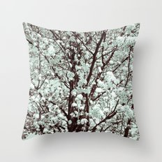 Winter Petals Throw Pillow