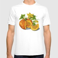 Pumpkin Mens Fitted Tee White SMALL