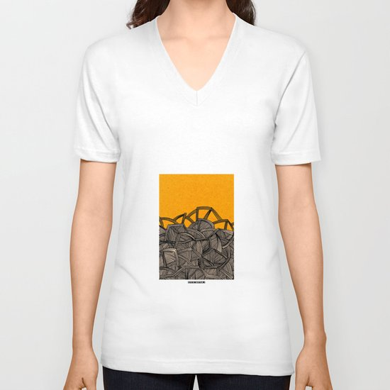 - barricades - V-neck T-shirt