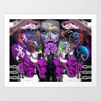 ✭ N ✪ Y ✪ Q ✪ U … Art Print