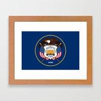 Utah State Flag - Authentic Version Framed Art Print