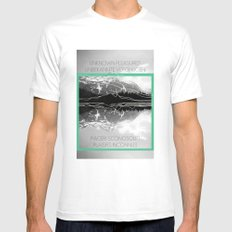 Unknown Pleasures Mens Fitted Tee White SMALL