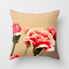 Carnation Throw Pillow