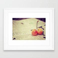 cherries Framed Art Print