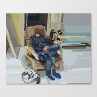 some kind of time dimension Canvas Print