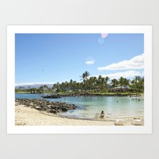 Just Beachy. How Are You? Art Print