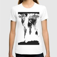world map T-shirts featuring World Map  Black & White by WhimsyRomance&Fun