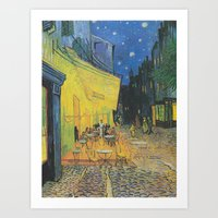 Van Gogh - Terrace Of Th… Art Print