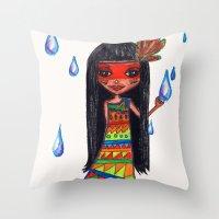 A menina que chovia Throw Pillow