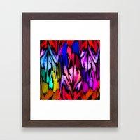 Feather Rainbow Framed Art Print