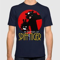 Spiff n Tiger Mens Fitted Tee Navy SMALL
