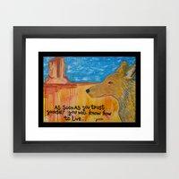 Coyote Wisdom Framed Art Print