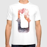 White Cat Mens Fitted Tee White SMALL