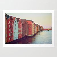 Trondheim, Norway Art Print