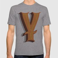 Letter Y Mens Fitted Tee Athletic Grey SMALL