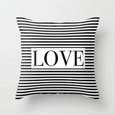 Monochromatic Love Throw Pillow