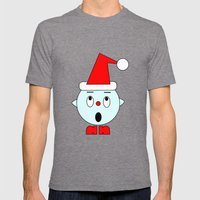 Funny Surprised Head Mens Fitted Tee Tri-Grey SMALL