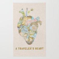 A Traveler's Heart Rug