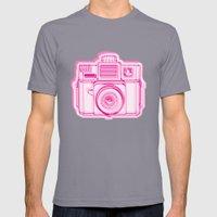 I Still Shoot Film Holga Logo - Reversed Pink Mens Fitted Tee Slate SMALL
