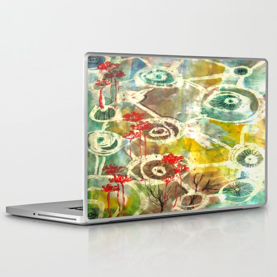 Peeking Trees Laptop & iPad Skin
